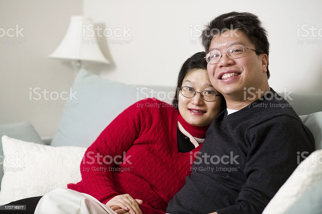 Asian couple portraits royalty-free stock photo