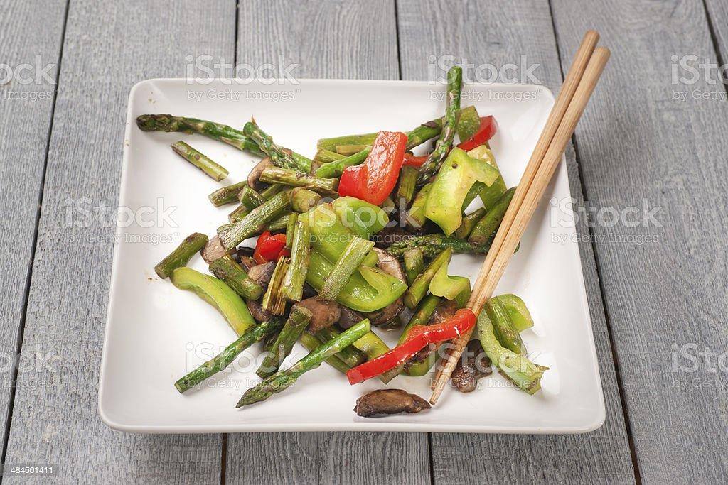 Asian Cuisine: Vegetarian Stir Fry stock photo