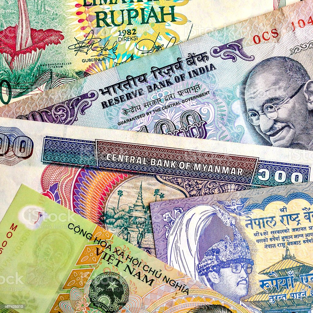 Asian Currency stock photo