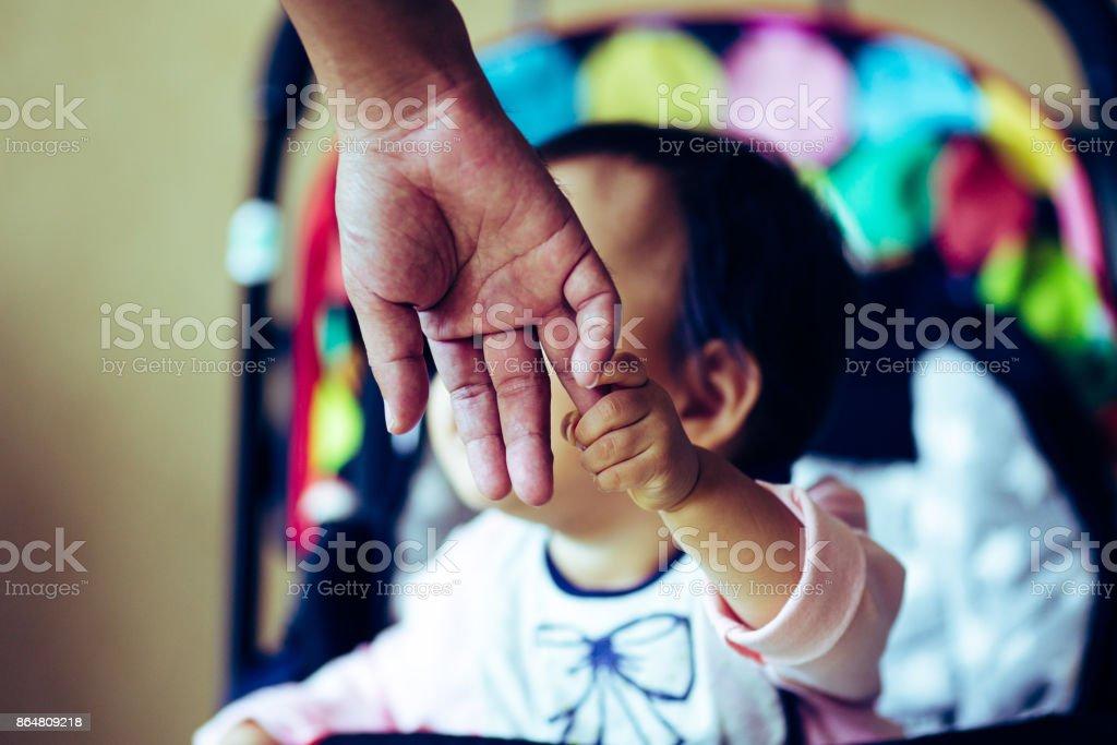 Asian cute baby stock photo