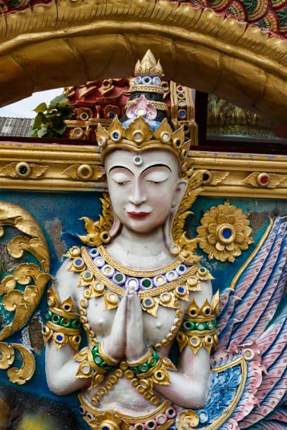 Asian dancer statue stock photo