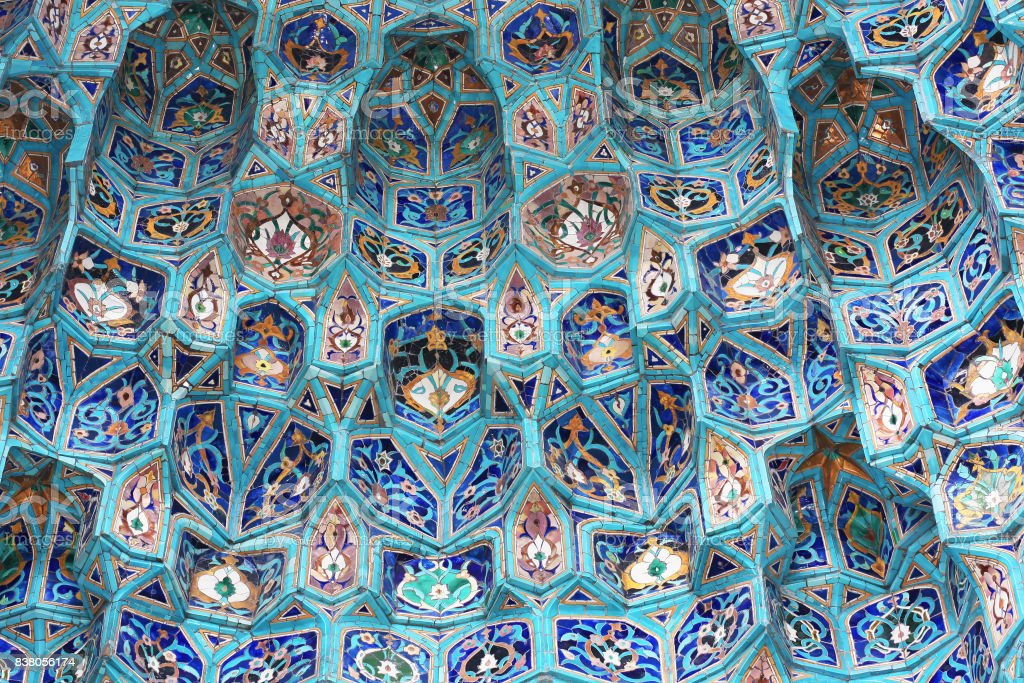 Asian decoration background in blue colors. royalty-free stock photo