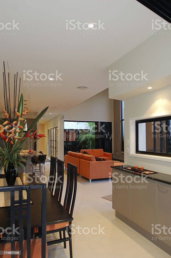 Asian Dining Room royalty-free stock photo