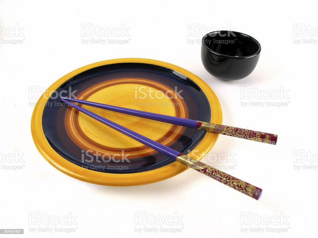 Asian dinner set royalty-free stock photo