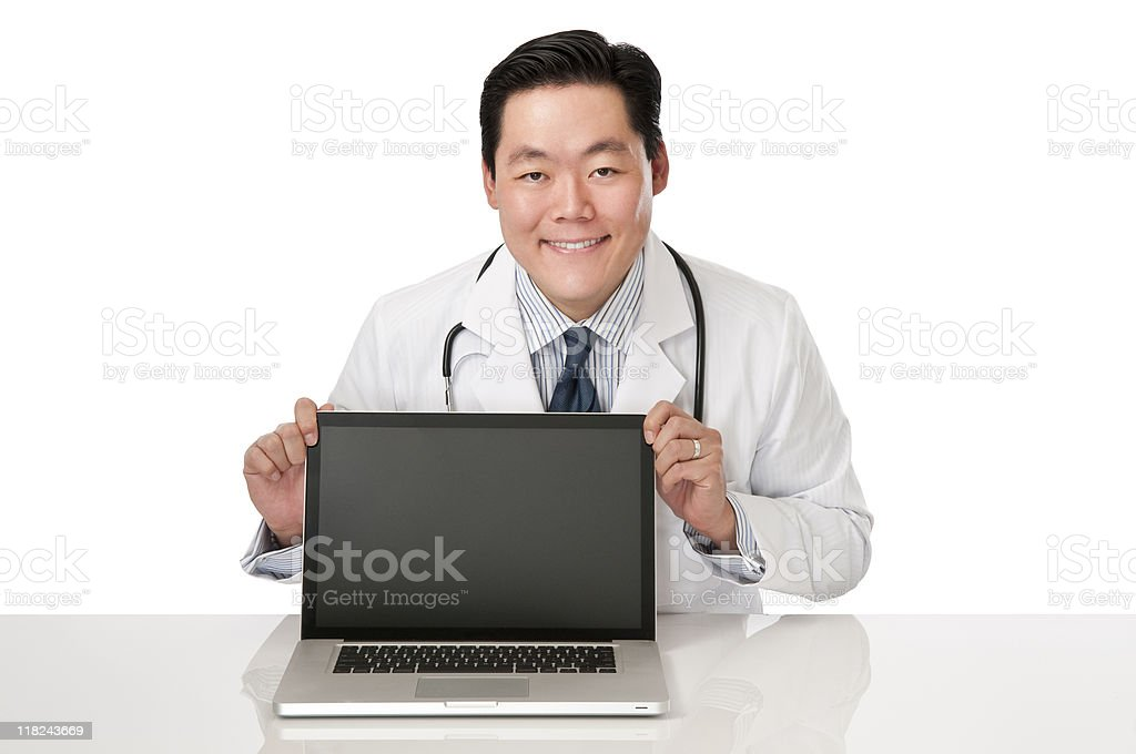 Asian Doctor With Laptop royalty-free stock photo
