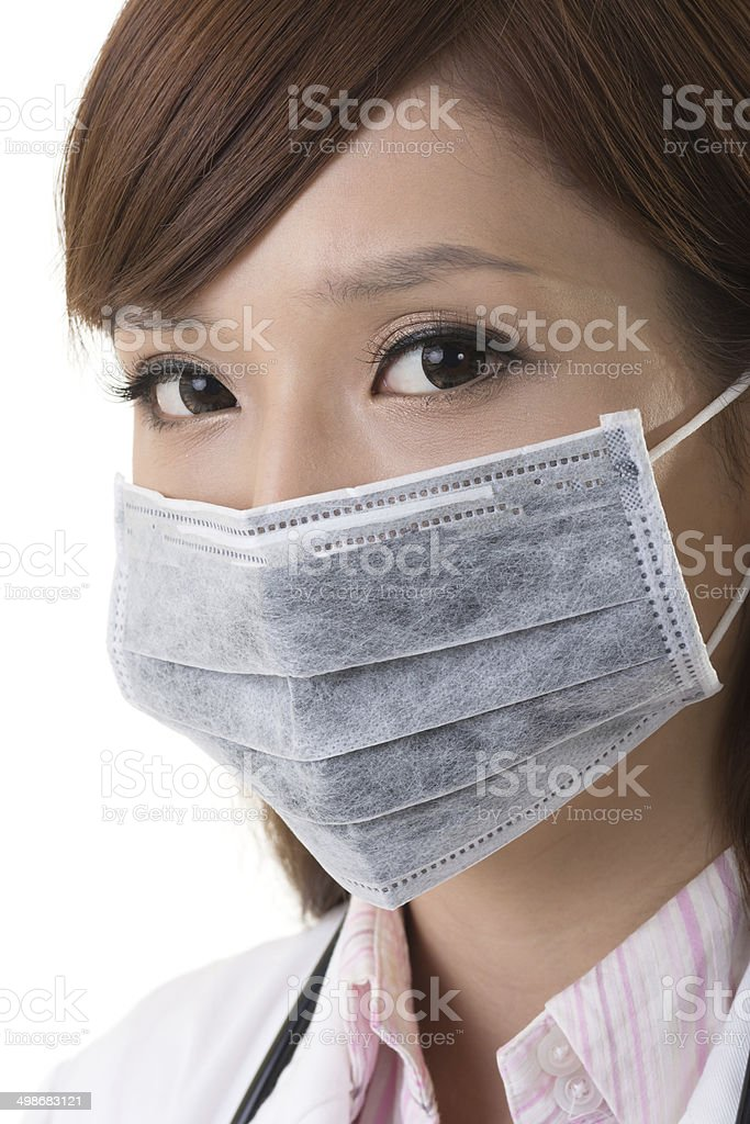 Woman Photo Download Asian A Stock - Wear Surgical Doctor Mask
