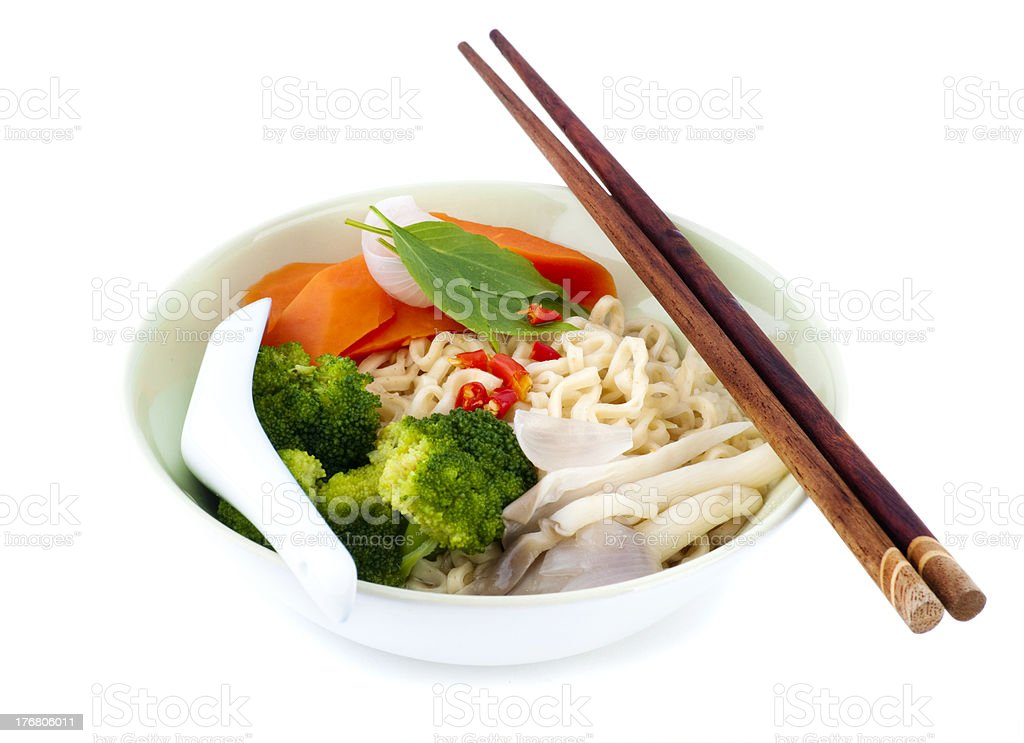 Asian dry noodles royalty-free stock photo