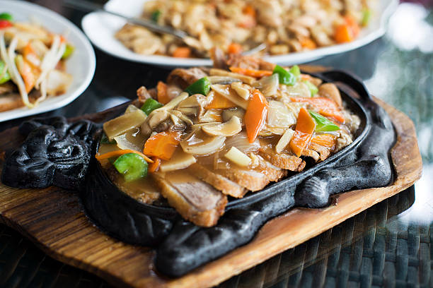 Asian duck Asian duck with vegetables, Mongolian style close up mongolian culture stock pictures, royalty-free photos & images