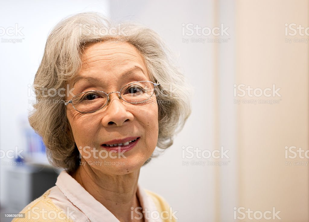 Asian Elderly woman stock photo