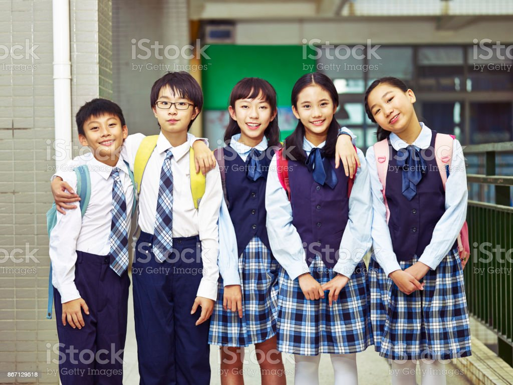 Asian Elementary School Students Stock Photo Download Image Now