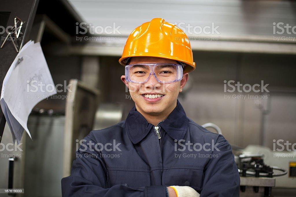 Asian engineer royalty-free stock photo