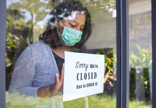 Asian entrepreneur closing business due to Covid 19 outbreak