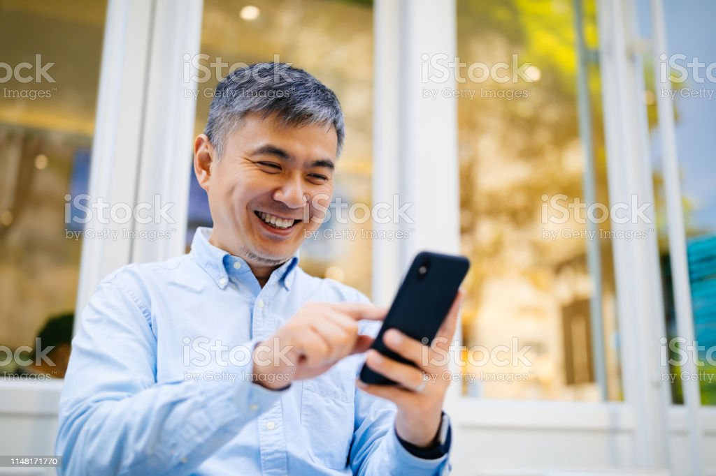 Businessman, Business Person, Men, Using Phone, 40-49 Years, Data,...