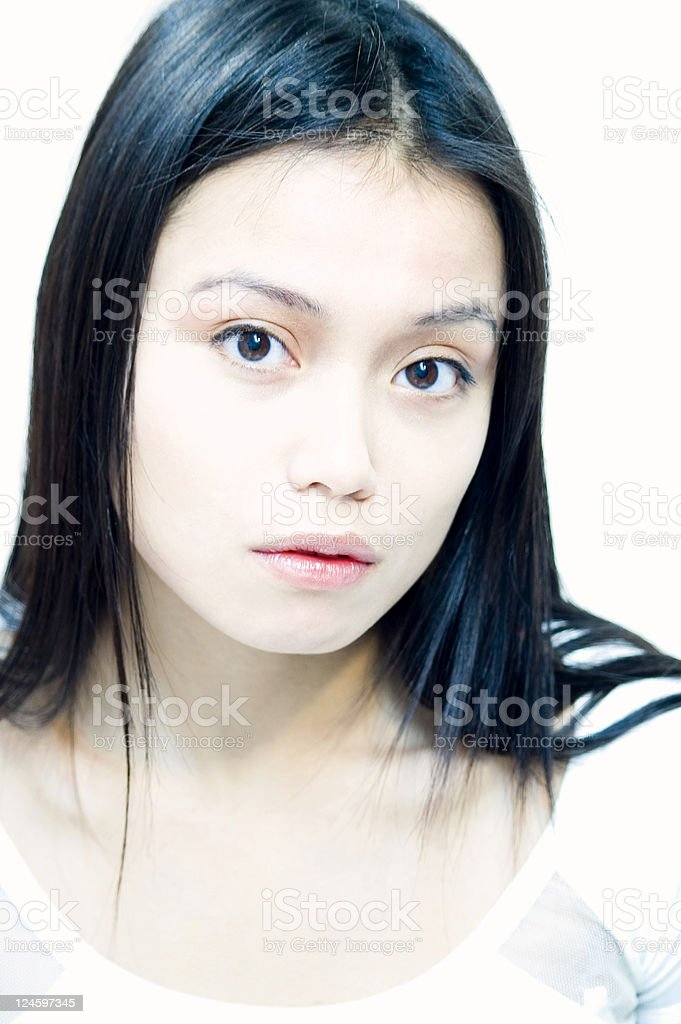 Asian Face royalty-free stock photo