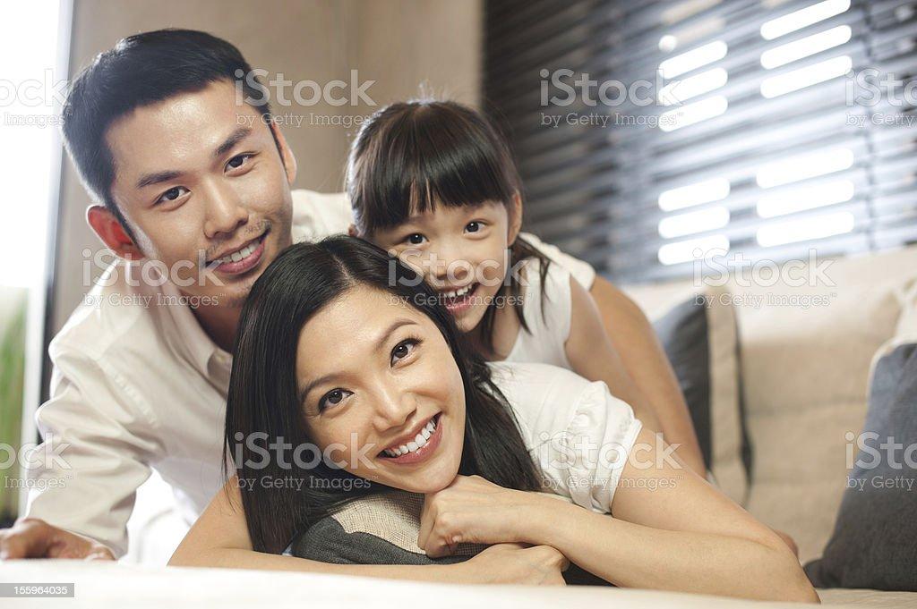 Asian Family Lifestyle royalty-free stock photo