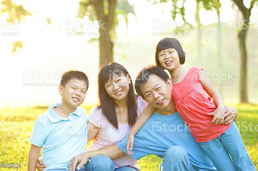 Asian Family Outdoor Lifestyle stock photo