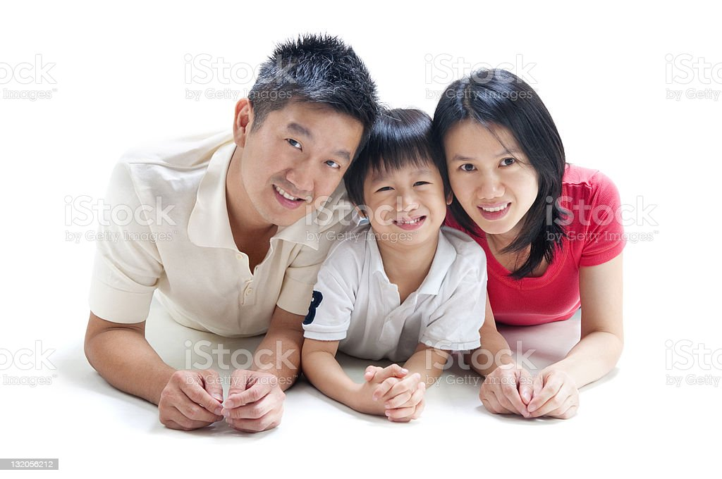 Asian family royalty-free stock photo