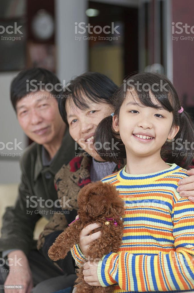 Asian family royalty-free stock photo