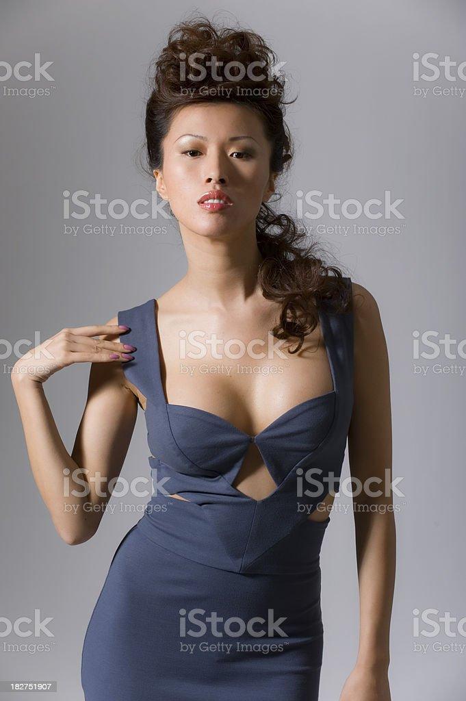 Asian fashion model in studio royalty-free stock photo