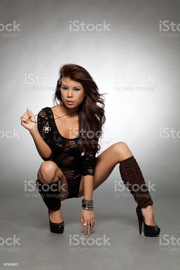 Asian fashion model royalty-free stock photo