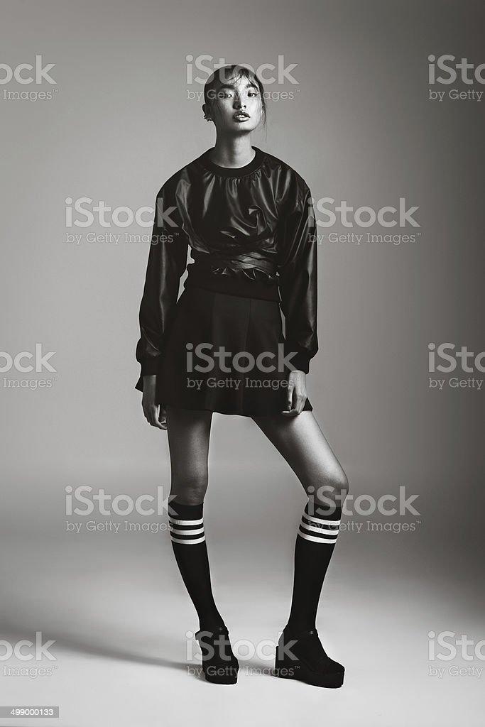 Asian fashionable woman stok fotoğrafı