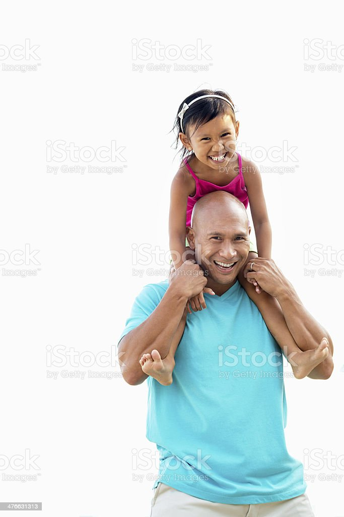 Asian Father and Daughter royalty-free stock photo