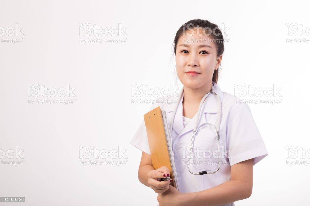 asian female doctor stock photo