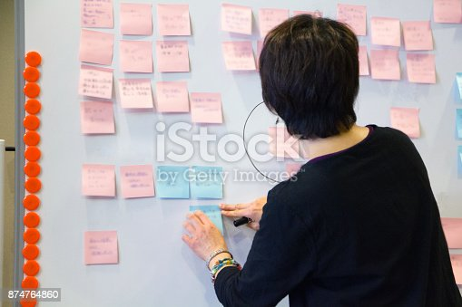 497451790 istock photo Asian female executive brainstorming with business partner. 874764860