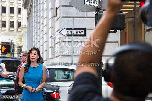 istock Asian female journalist. 866799190