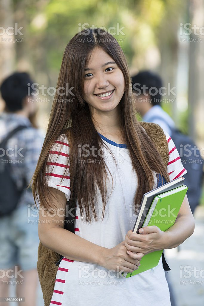 Asian Female Student - Stock image .