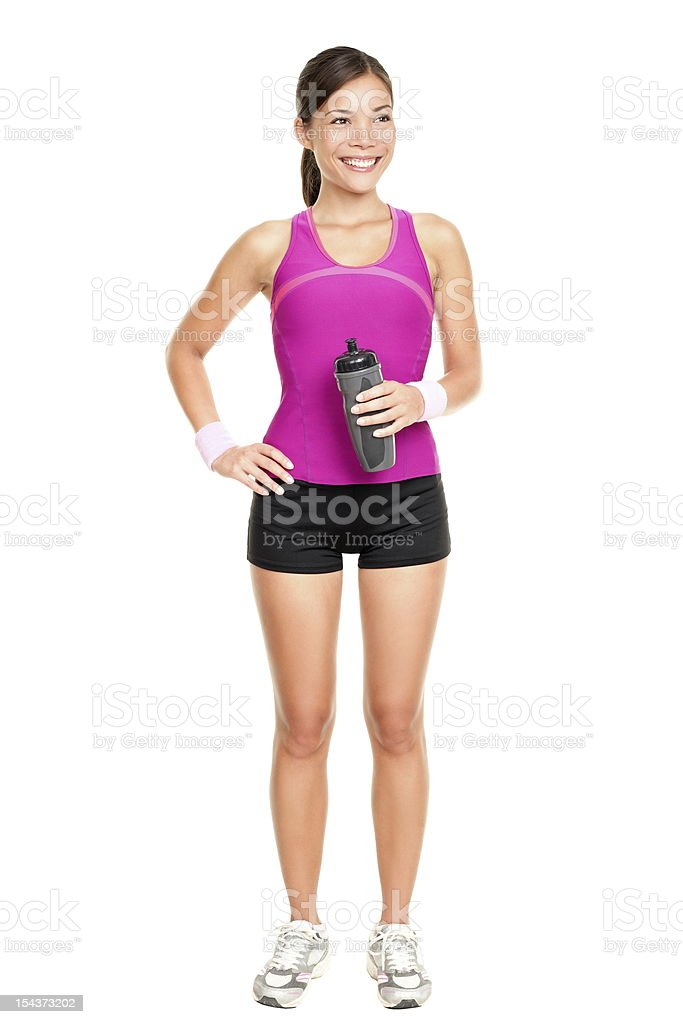 Asian fitness woman model standing royalty-free stock photo