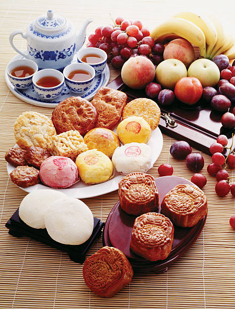 Asian Food and Fruits stock photo