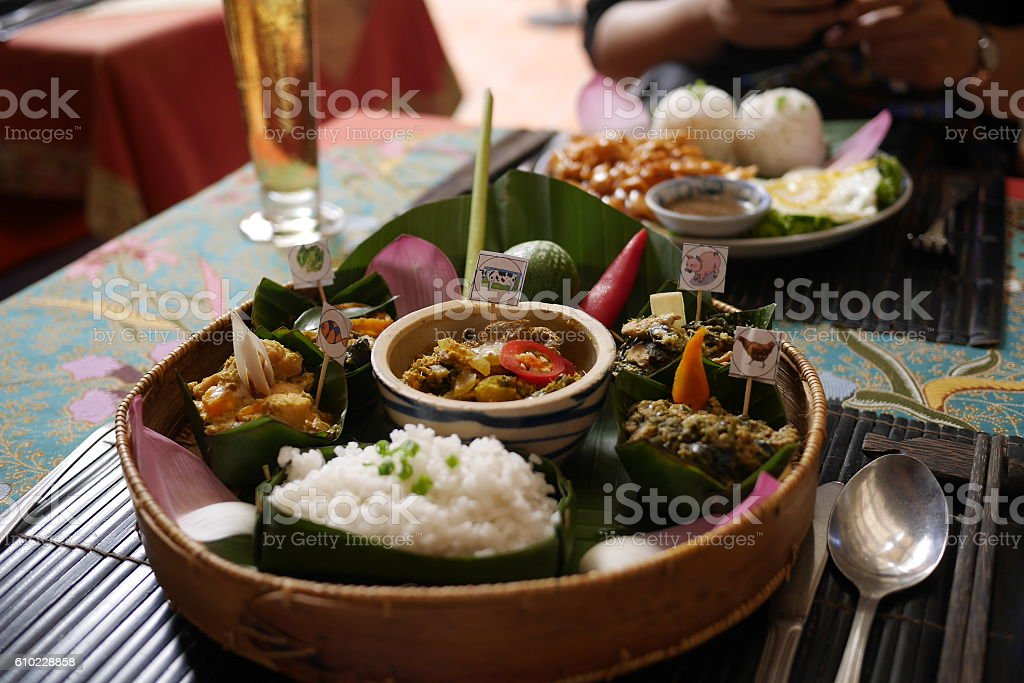 Asian food, Cambodia food - August stock photo