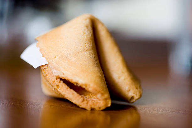 Asian Food: Fortune Cookie stock photo