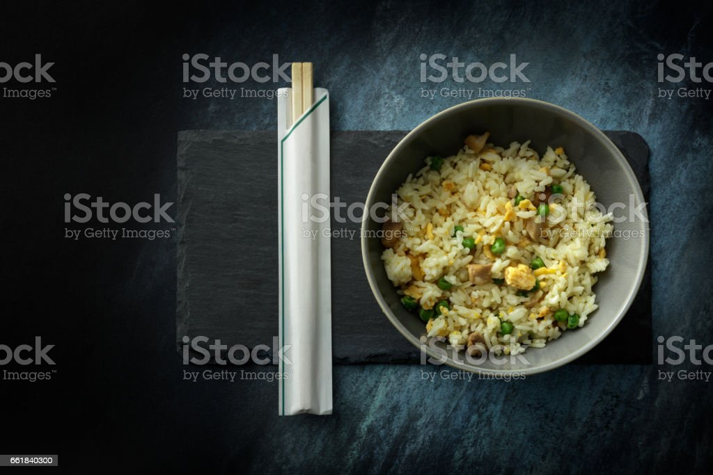 Asian Food: Fried Rice Still Life stock photo