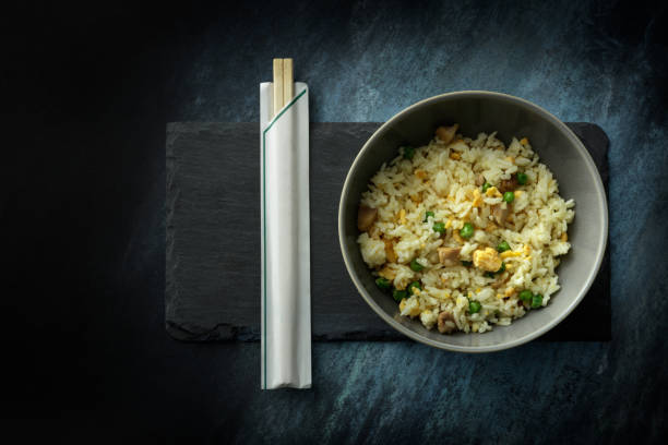 Asian Food: Fried Rice Still Life Asian Food: Fried Rice Still Life fried rice stock pictures, royalty-free photos & images