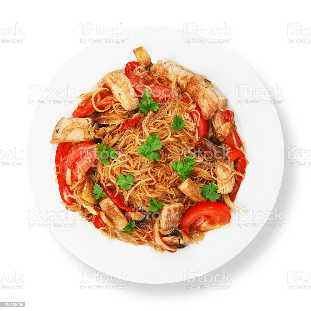 Kuchnia Azjatycka Tajski Ryz Smazony Makaron Stockowe Zdjecia I