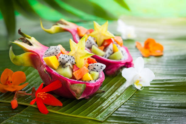 아시아 음식  - 열대 과일 뉴스 사진 이미지