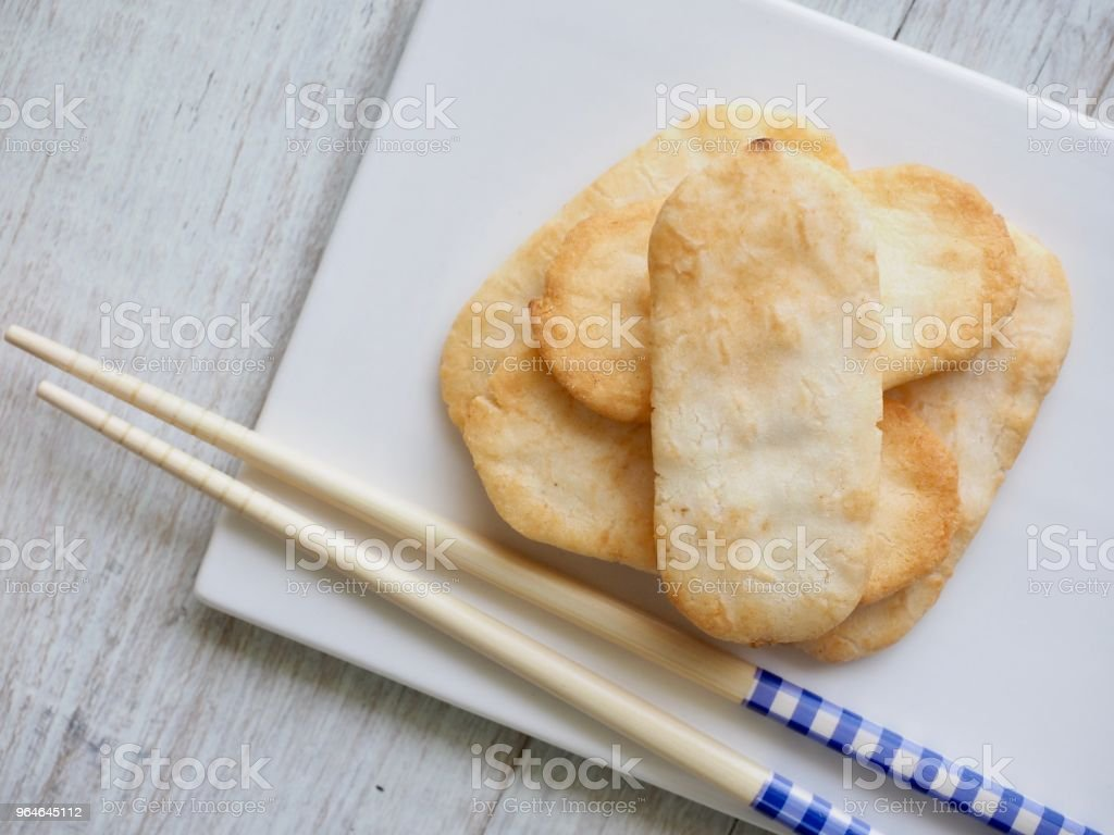 Asian food Rice cracker royalty-free stock photo