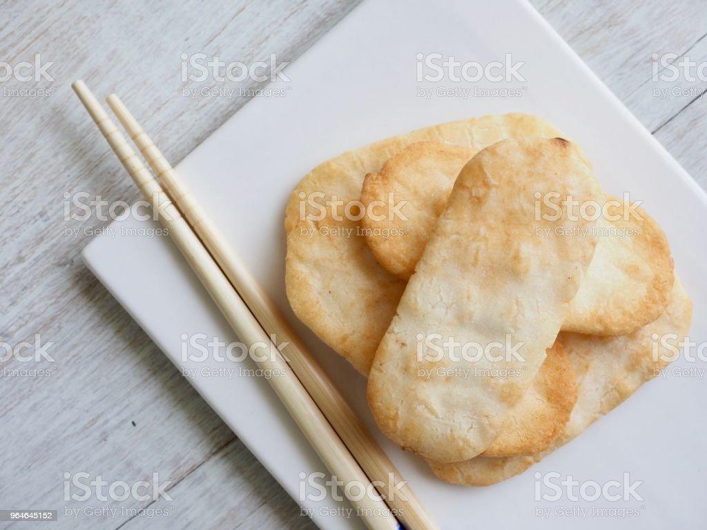 Asian food Rice cracker royalty-free stock photo