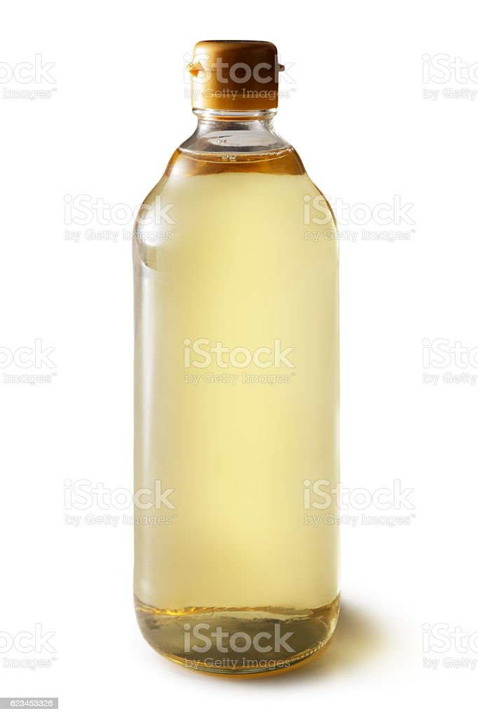Asian Food: Rice Vinegar Isolated on White Background stock photo