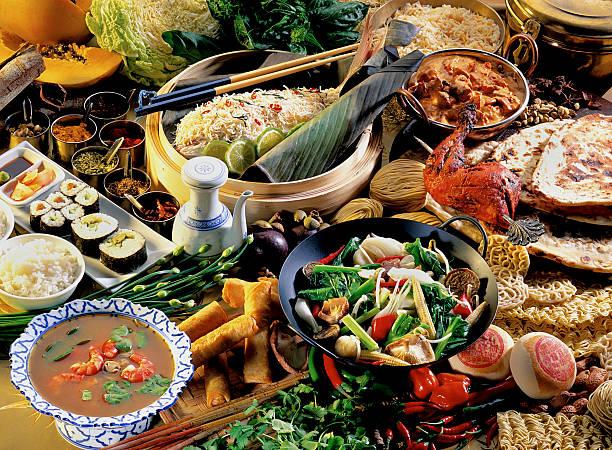 Asiatische food Ambiente – Foto