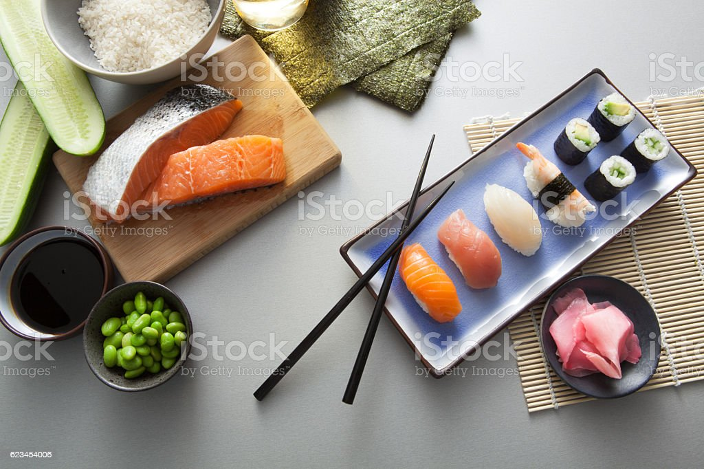 Asian Food: Sushi Still Life – Foto