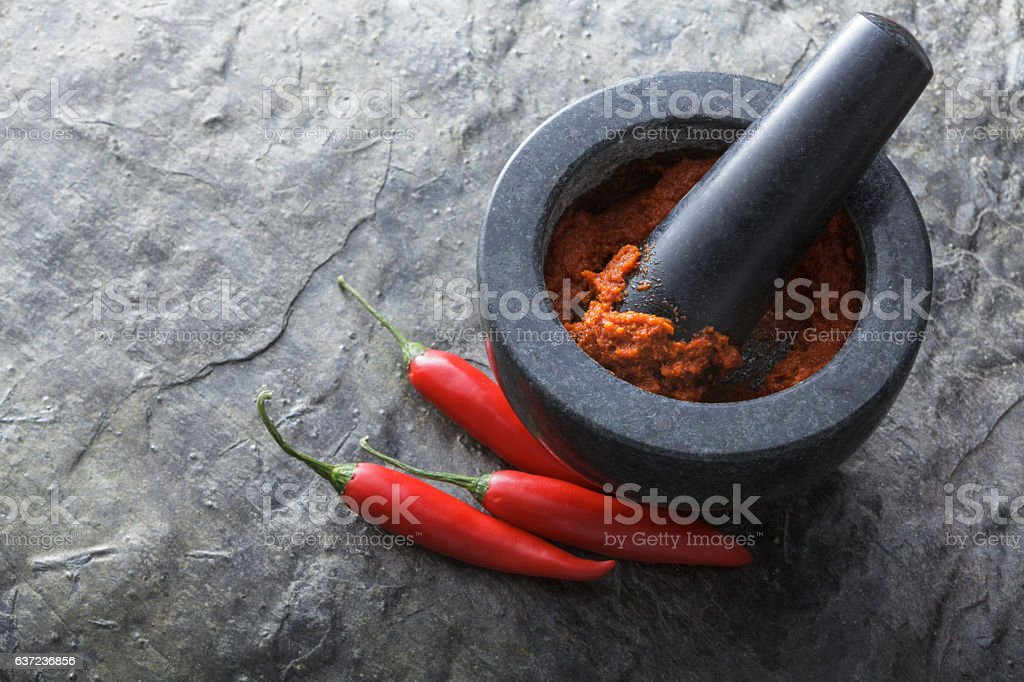 Asian Food: Thai Red Curry Still Life stock photo