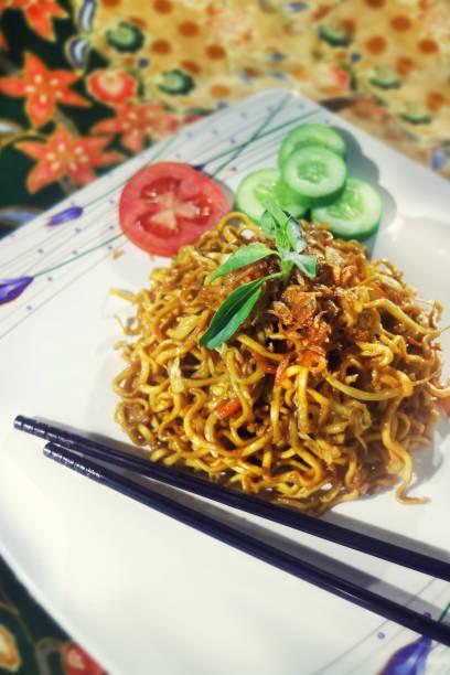 Asiatische gebratene Nudeln – Foto