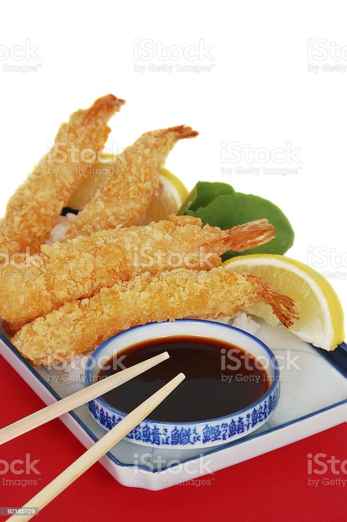 Asian Fried Shrimp royalty-free stock photo
