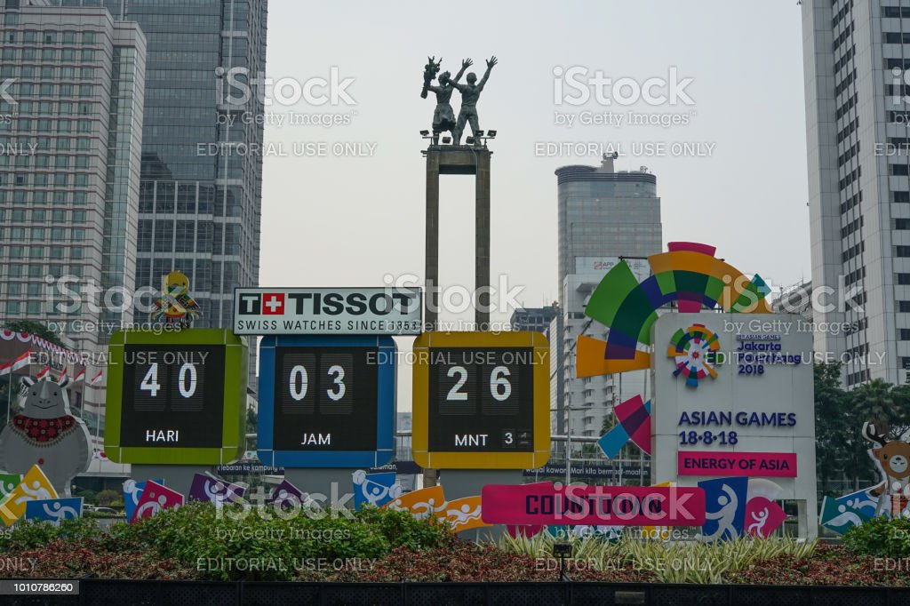 Asian Games 2108 Sign stock photo