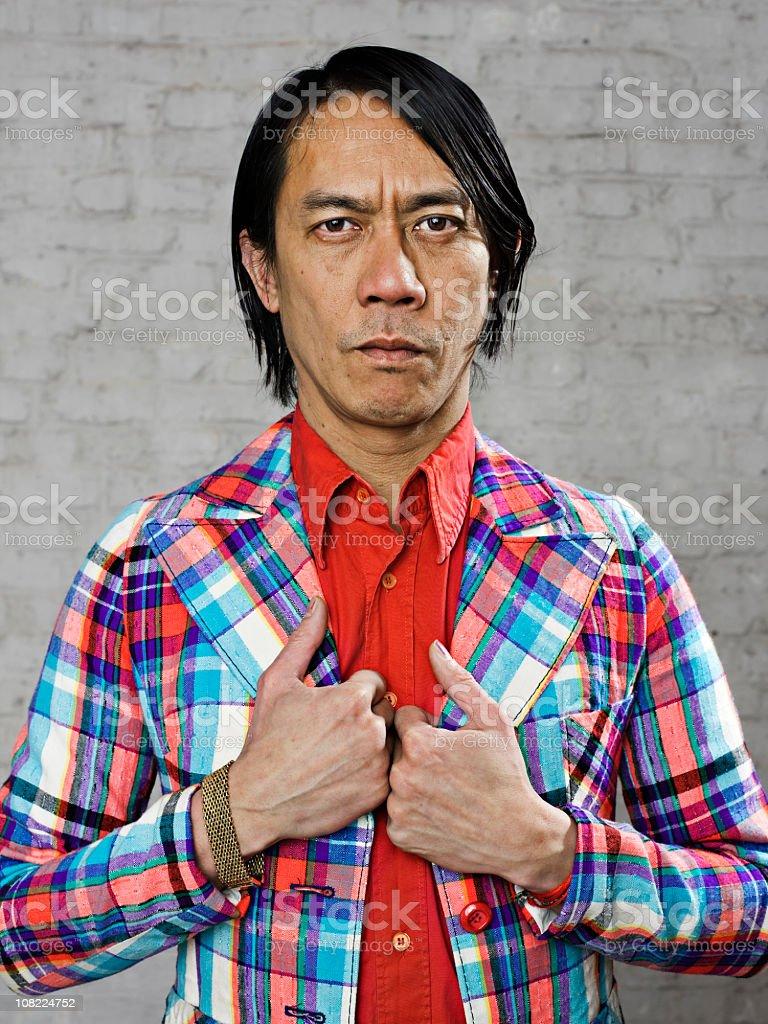 Asian gangsta stock photo