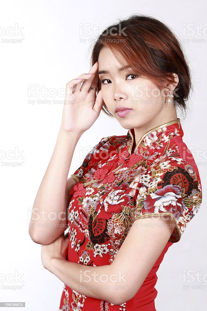 Asian girl Chinese dress royalty-free stock photo