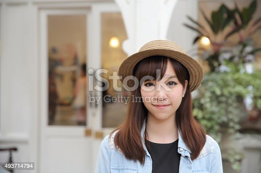 istock Asian girl in nature 493714794